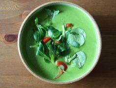 Špenátová polévka Raw Food Recipes, Spinach, Pudding, Vegetables, Desserts, Dinners, Tailgate Desserts, Dinner Parties, Deserts