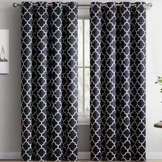 Lattice Blackout Thermal Curtain Panels (Set of 2)