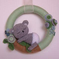 Amigurumi koala wreath, cuteness!