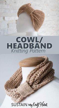 This easy cowl knitting pattern creates both a neck warmer and headband in one! via This easy cowl knitting pattern creates both a neck warmer and headband in one! Knitting Blogs, Easy Knitting, Knitting For Beginners, Knitting Patterns Free, Knit Patterns, Knitting Tutorials, Charity Knitting, Beginner Knitting Projects, Sock Knitting
