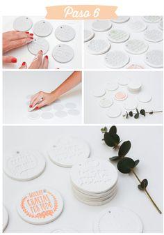 Tutorial – Cómo hacer medallones de cerámica estampados y muy apañados…