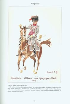 The Confederation of the Rhine - Westphalia: Plate 18. Supply Train, Officer, 1812
