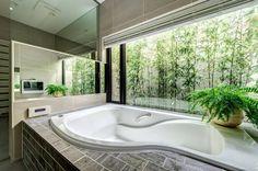 20 Shower Room Lights Ideas for every single Design Style Japanese Bathroom, Ideal Bathrooms, Bathtub Remodel, Master Room, Interior Garden, Suites, Shower Tub, Luxury Living, Bathroom Inspiration