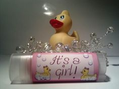 Personalized Girl Baby Shower Lip Balm - Wicked Wench Soapworks