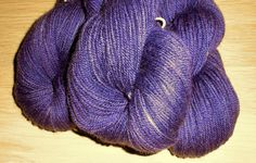 Deep Blue Violet Handdyed Corriedale Wool DK Weight Yarn, 3-ply, For Knitting, Crochet and Felting