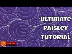 Learn how to quilt Paisley, a beautiful free motion machine quilting design you can quilt in a continuous line throughout your quilt without breaking thread. Modern Quilting Designs, Modern Quilt Patterns, Quilt Patterns Free, Jelly Roll Quilt Patterns, Machine Quilting Patterns, Free Motion Quilting, Quilting Tips, Longarm Quilting, Paisley Quilt