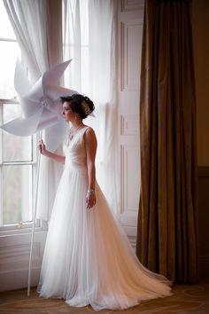 Giant pinwheels and Jenny Packham shoot by Toast of Leeds