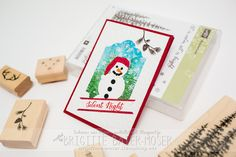 Weihnachtskarte mit Stempelset Wonderland von Stampinup