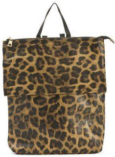 8a52601c62ea Animal Print Backpack With Flap - Backpacks - T.J.Maxx