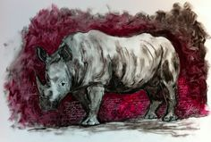 The White Rhino by Sarah Britten, via Behance Screen Shot, South Africa, Moose Art, Lion Sculpture, Objects, Statue, City, Awesome, Behance