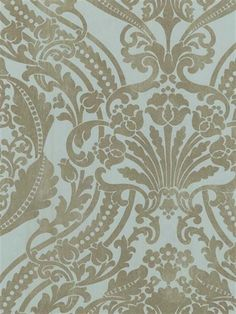 Floral Damask Sidewall - DS106822 from Damask, Stripe & Toile Library Book book