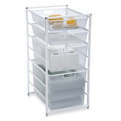 Cabinet-Sized elfa Mesh Bath Drawers. containerstore.com $80