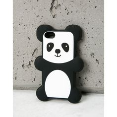 Hülle Panda Iphone5 Tablet Handy Zubehör Bershka Germany ($11) ❤ liked on Polyvore featuring accessories, tech accessories and bershka