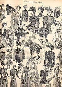 illustrazione italiana - 1890 - moda invernale