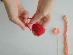 5 Minute DIY: Yarn Pom Poms - YouTube