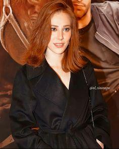 Ginger Hair Color, Elcin Sangu, Orange, Goddesses, Hobbies, Leather Jacket, Actresses, Beauty, Fashion