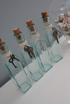jars + skeleton antique keys = great idea for center piece at wedding