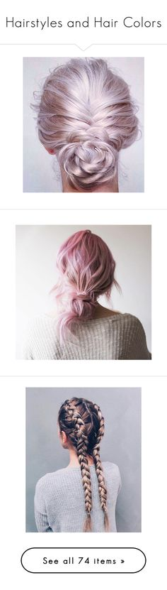 """""""Hairstyles and Hair Colors"""" by miss-panda-queen ❤ liked on Polyvore featuring beauty products, haircare, hair styling tools, hair, backgrounds, hairstyle, pic, hairstyles, curly hair care and hair color"""