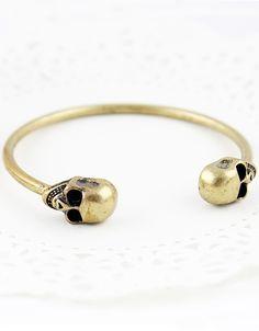 Gold Skull Cuff Bracelet