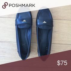 Black Leather Tory Burch Penny Loafers Black leather Tory Burch penny loafers in size 7.5. Classic shoes. Gently worn. Tory Burch Shoes Flats & Loafers