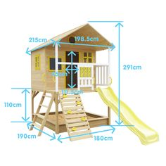Lifespan Kids Warrigal Cubby House with Yellow Slide Cubby House Plans, Kids Cubby Houses, Kids Cubbies, Tree House Plans, Play Houses, Backyard Playhouse, Build A Playhouse, Backyard Playground, Backyard For Kids