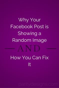 Your preferred image isn't showing up on Facebook? Read on to find out why AND how to fix it! #Facebook #socialmedia #blogging #blogger