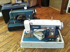 Two more vintage sewing machines