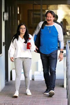 Father daughter time: Ariel Winter spent some quality time with her father, Glenn Workman, two months after her estranged mother accused her of reigniting their feud for publicity