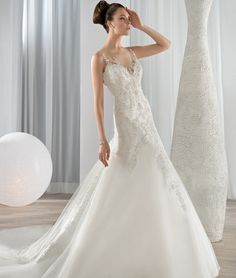 Demetrios wedding gowns & dresses makes luxury affordable. Explore all of our wedding gowns & evening dresses collections and find a store near you. Wedding Dresses London, Wedding Dresses Photos, Wedding Bridesmaid Dresses, Bridal Dresses, Wedding Gowns, Ivory Wedding, Illusion Neckline Wedding Dress, Wedding Dress Necklines, Wedding Gown Gallery