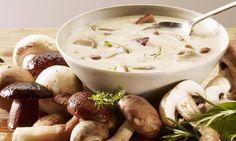 Cream of Mushroom Soup (mushroom recipes soup) Wild Mushroom Soup, Creamy Mushroom Soup, Mushroom Soup Recipes, Wild Mushrooms, Creamed Mushrooms, Stuffed Mushrooms, Mushroom Broth, I Love Food, Gastronomia