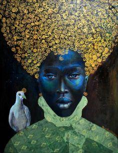 Beautiful Female Portraits by Tamara Natalie Madden African Digital Art Art And Illustration, African American Art, African Art, African Beauty, Art Fou, Arte Tribal, Ouvrages D'art, Wow Art, Afro Art