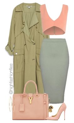 """""""Own It"""" by highfashionfiles ❤ liked on Polyvore featuring Zara, Yves Saint Laurent, Jimmy Choo and Jennifer Meyer Jewelry"""