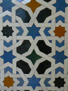 Islamic pattern mosaics. (JORGENCA) Islamic Motifs, Islamic Tiles, Islamic Art Pattern, Arabic Pattern, Geometric Patterns, Star Patterns, Tile Patterns, Pattern Art, Pattern Design