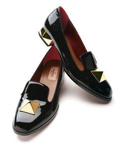 Valentino Metal Heel Loafer