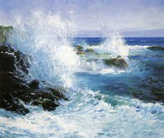 peira:    Guy Orlando Rose (1867-1925): The Sea View of Cliffs (not dated) via Wikipaintings