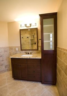 fabulous bathroom vanity ideas for small bathrooms with framed mirror and undermount sink
