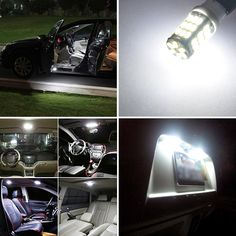 Grandview 10Pcs 501 W5W LED Bulbs Cool White T10 42-SMD 1206 High Power 168 194 2825 921 LED Car Interior,Dashboard Number Plate,Boot Light Bulbs 12V