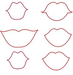 Lips and Mustaches Templates (along with some others) for possible games and photo props.