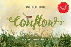 Conflow Typeface Font is a new hand lettering font. Available for both personal and commercial use. Including over 350 hand lettering characters for a range of languages. Typeface Font, Hand Lettering Fonts, Calligraphy Fonts, Script Fonts, New Fonts, Typography, Script Type, Dollar, Custom Fonts
