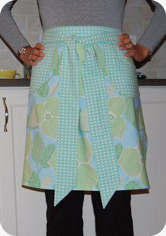 33 Shades of Green: Amy Butler Domestic Goddess Half Apron