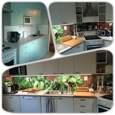 Kitchen at my villa when I bought it and after slight renovation.