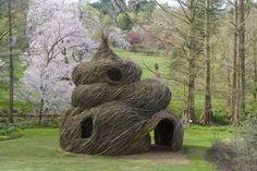 Garden fort sculpture by Patrick Dougherty