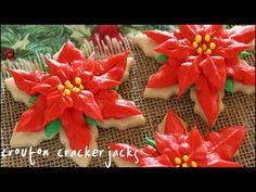 Learn how to make and decorate these poinsettia sugar cookies for Christmas! They are sure to be a hit on your holiday table! Trust me when I say these look ...