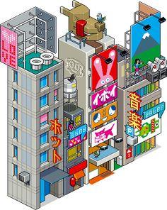 Un trocito de Tokio, por eboy.