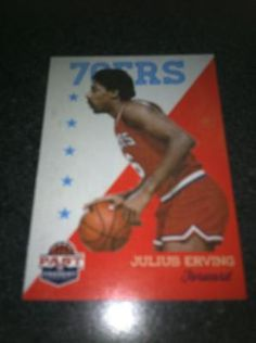 Julius Erving Brand New * 2011-12 Past & Present * NBA Basketball Card Philadelphia 76ers Free Ship $2.00
