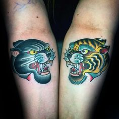 75 Traditional Tiger Tattoo Designs For Men - Striped Ink Ideas Tiger Tattoo Images, Mens Tiger Tattoo, Tiger Head Tattoo, Tiger Tattoo Design, Head Tattoos, Wild Tattoo, Fox Tattoo, Daggar Tattoo, Wolf Tattoo Traditional