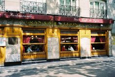 Gran Café de Gijon at Madrid, Espana. Famous cafe because of frequent visits by hispanic personalities such as Jorge Luis Borges, Ernesto Sabato and others.