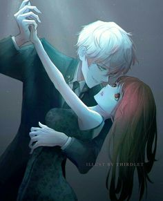 saeran x mc Mystic Messenger Unknown, Mystic Messenger Game, Messenger Games, Mystic Messenger Characters, Mystic Messenger Fanart, Manga Couple, Anime Couples Manga, Cute Anime Couples, Manga Anime