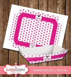 Minnie Mouse Food and Snack Trays Minnie Mouse Birthday Party Printables LL-0023-06