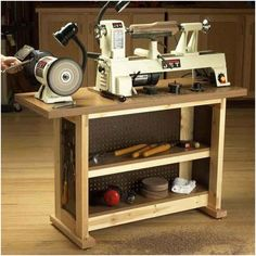 Basic-Built, Simple & Sturdy Tool Stand Woodworking Plan from WOOD Magazine Woodworking Tool Cabinet, Woodworking Bench Plans, Woodworking Crafts, Woodworking Jigsaw, Woodworking Classes, Teds Woodworking, Workbench Plans, Woodworking Furniture, Woodworking Chisels